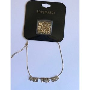 Forever 21 Make Your Own Name Necklace